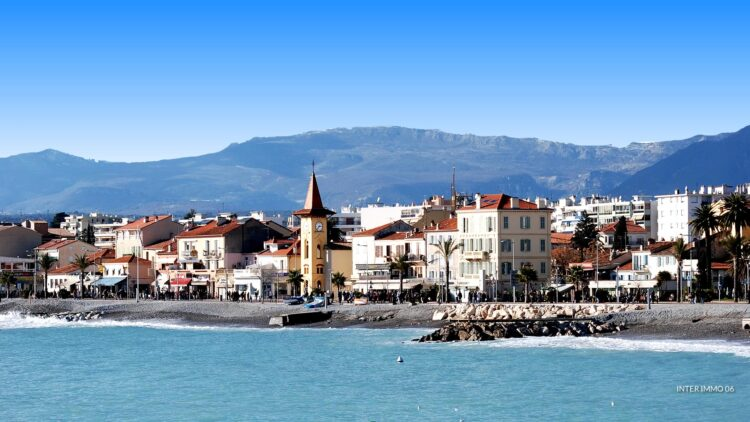 The elegant seafront town of Cagnes-sur-mer