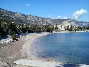 Beach in Beaulieu sur mer