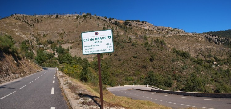 Col de Braus with 3km to go