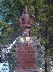 Col de la Madone memorial