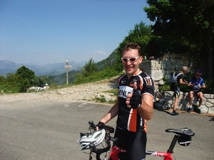 Col de la Madone with Mark and two old guys in background