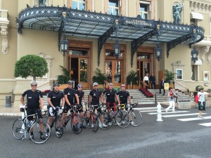 A group outside the casino in Monte Carlo