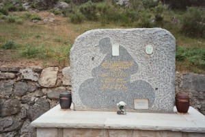 Rene Vietto memorial at the top of the Col de Braus