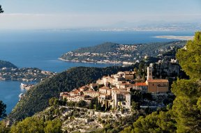 View of Eze from Grande Corniche