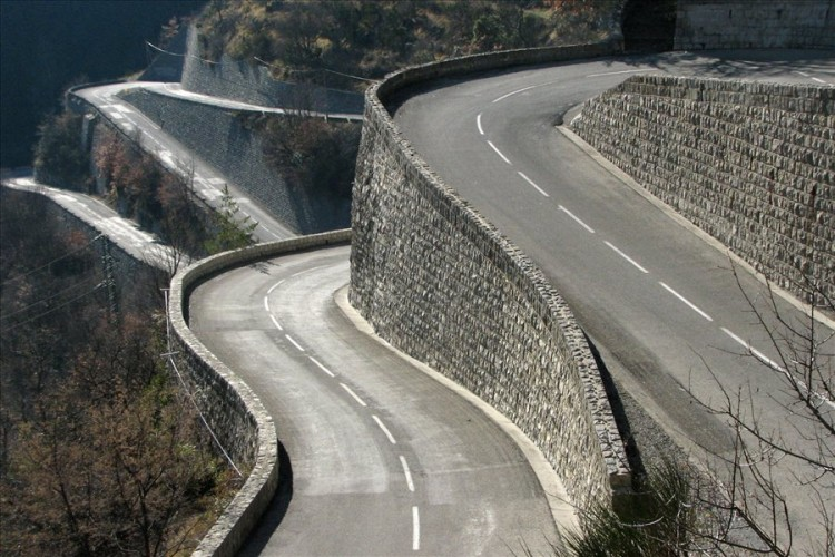 col de turini stacked hairpins