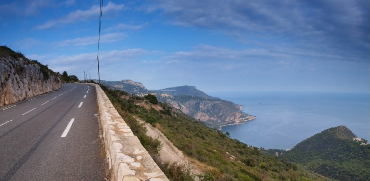 Towards the top of Col d'Eze