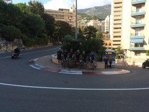 group on the hairpin in monaco from further away