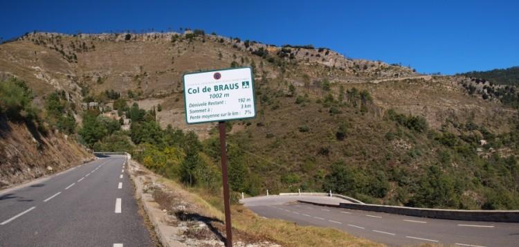Col de Braus with 3km to go