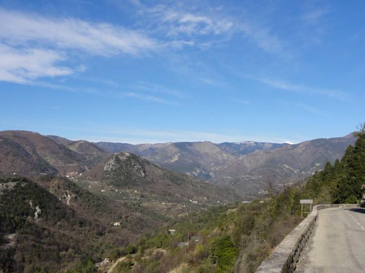 Col de Castillon view from top looking north