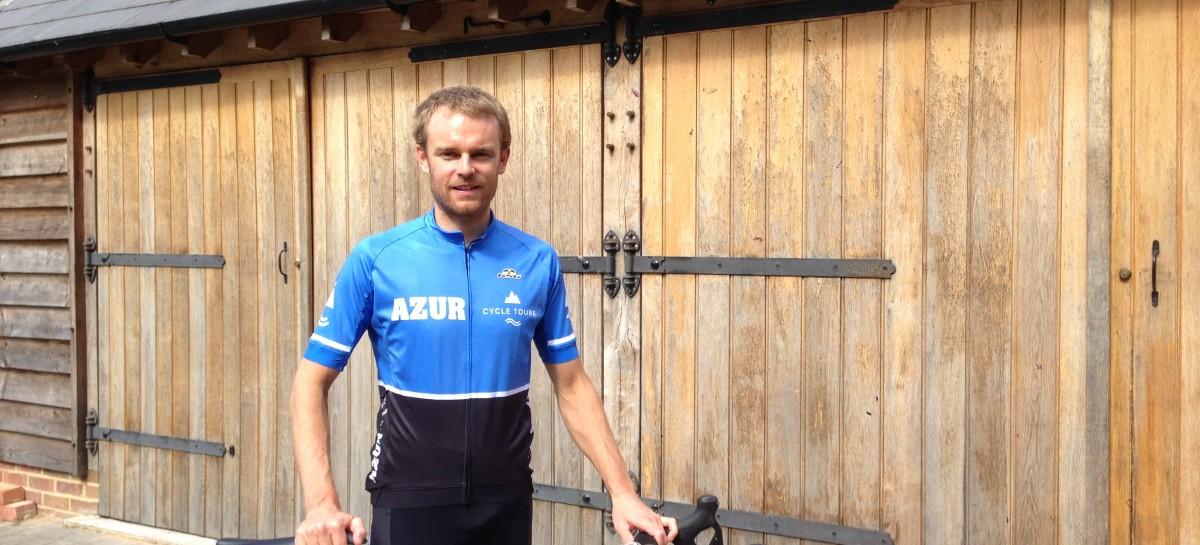 Paul Hamblett sponsored rider tackling the Haute Route triple crown